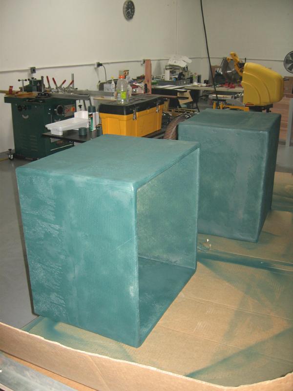 Custom outdoor speaker enclosure liner