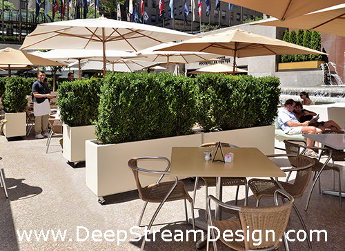 large movable fiberglass planters on casters