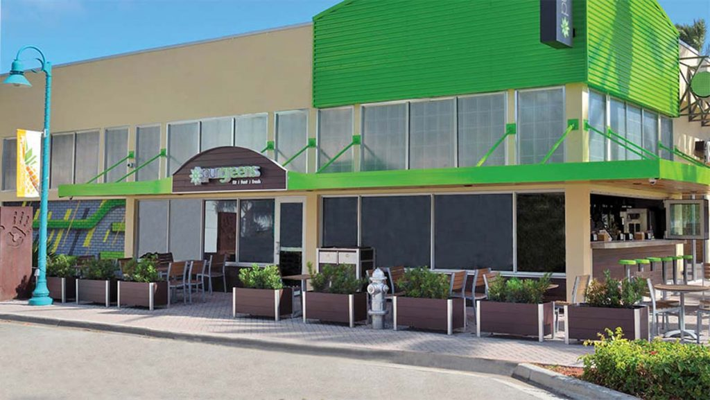Click to DeepStream's website to see more about maintenance free weatherproof recycled plastic lumber Mariner Restaurant Planters