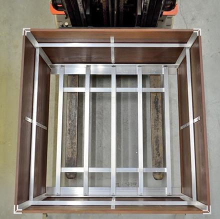 Planter liner aluminum support frame