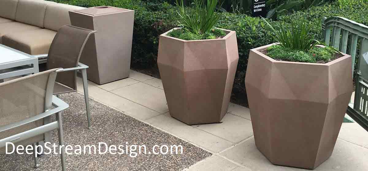 Commercial Fiberglass Planters available at DeepStream Design